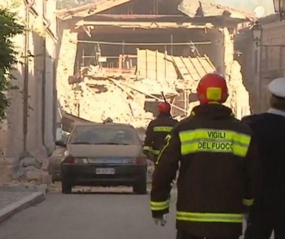 ВИталии новое землетрясение: появились фото ивидео