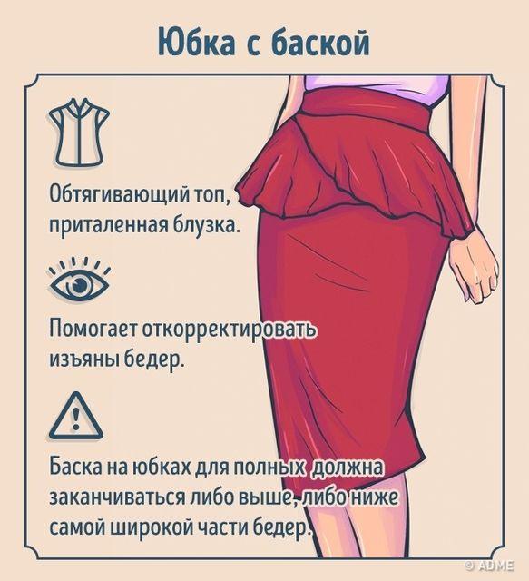 Как правильно подобрать  и юбку