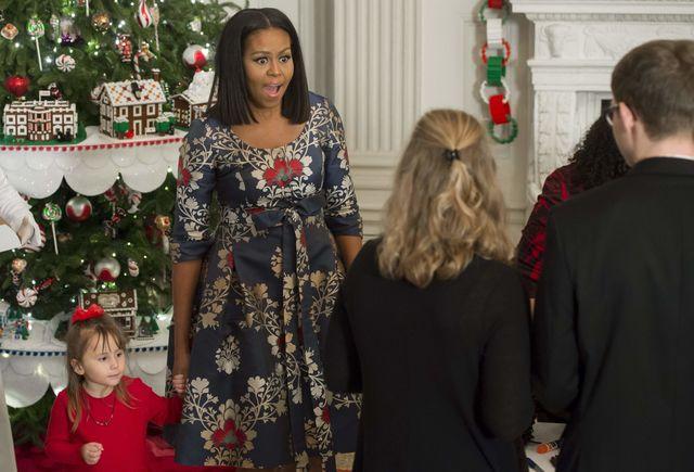 Мишель Обама показала, как украсила Белый дом кРождеству
