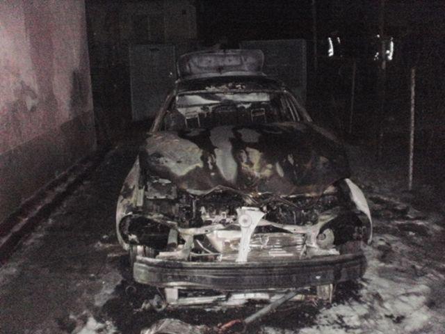 Ночью сожгли автомобиль работницы Ужгородского горсовета
