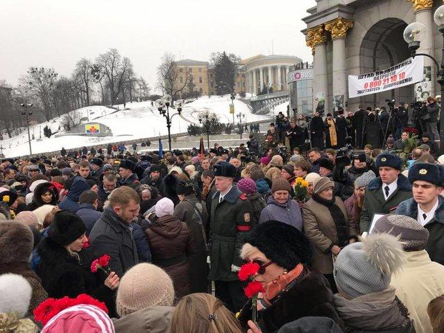 НаМайдане прощаются спогибшими под Авдеевкой украинскими защитниками