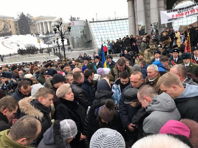 ВКиеве проходит панихида попогибшим вАвдеевке солдатам 72 ОМБр