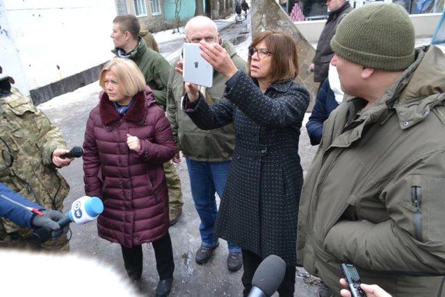 Авдеевку посетила депутат Европарламента Ребекка Хармс