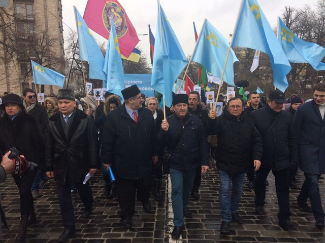ВКиеве провели акцию коДню сопротивления Крыма русской оккупации