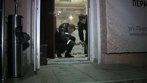 ВВиннице взорвали салон при помощи боевой гранаты
