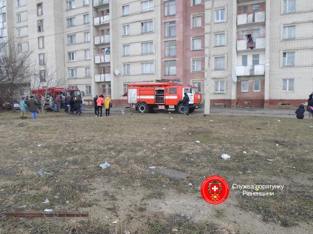 Из-за пожара изривненского общежития эвакуировали студентов
