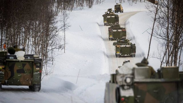 Восемь тыс. военных участвуют вучениях вНорвегии рядом границей с Российской Федерации