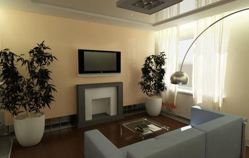 Декоративный камин из гипсокартона в квартире.