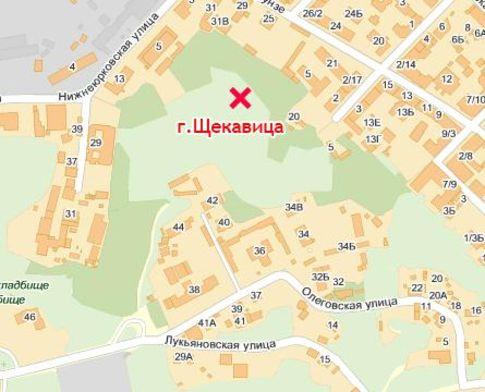 Карта с указанием мест занятий сексом