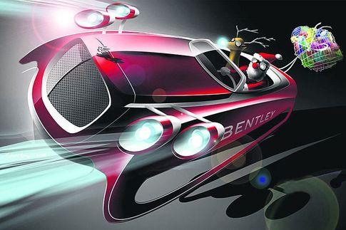 Авто - факт: чтобы успеть развезти подарки всему миру Санта Клаус должен передвигаться со скоростью 12 тыс. км/час