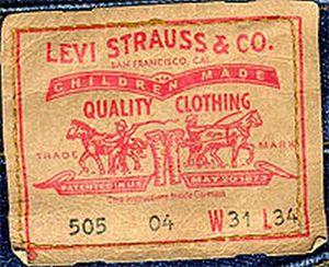 первые джинсы леви страус