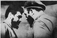 Че Гевара (слева) и Фидель Кастро. Кто знает, возможно конфликт этих двух ярких личностей способствовал гибели Че.