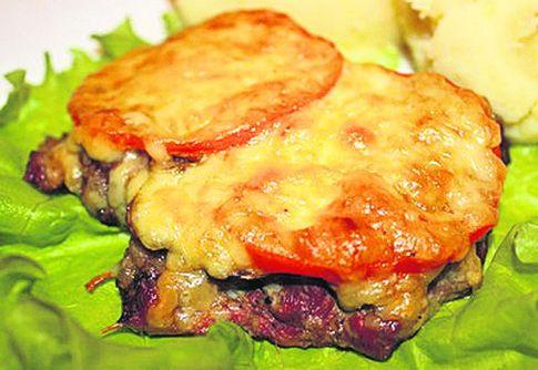 Мясо по-французски с грибами и помидорами в духовке рецепт с фото пошагово