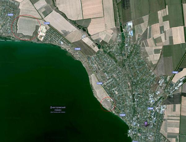 На деволановском плане обозначена сохранившаяся до сих пор балка, которая начинается от берега Днестровского лимана...