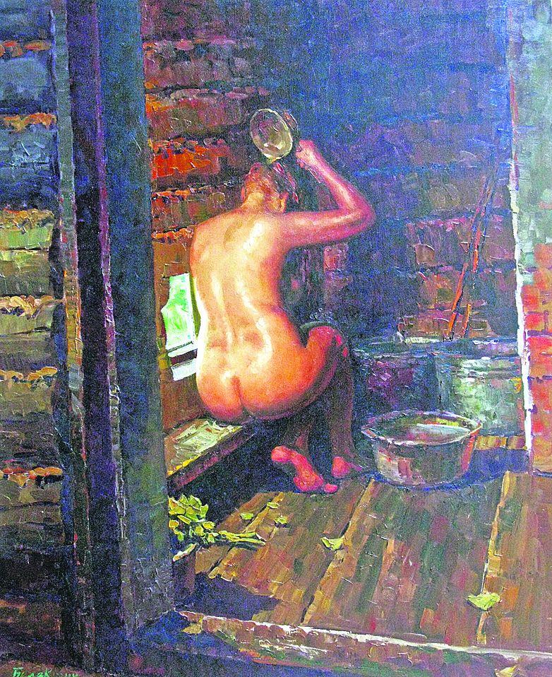 Секс деревенской девочки в баньке пьяной