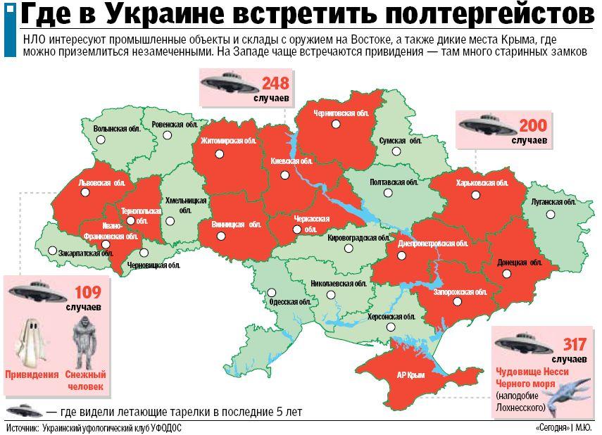 В Крыму и на Донбассе - секретные базы НЛО?