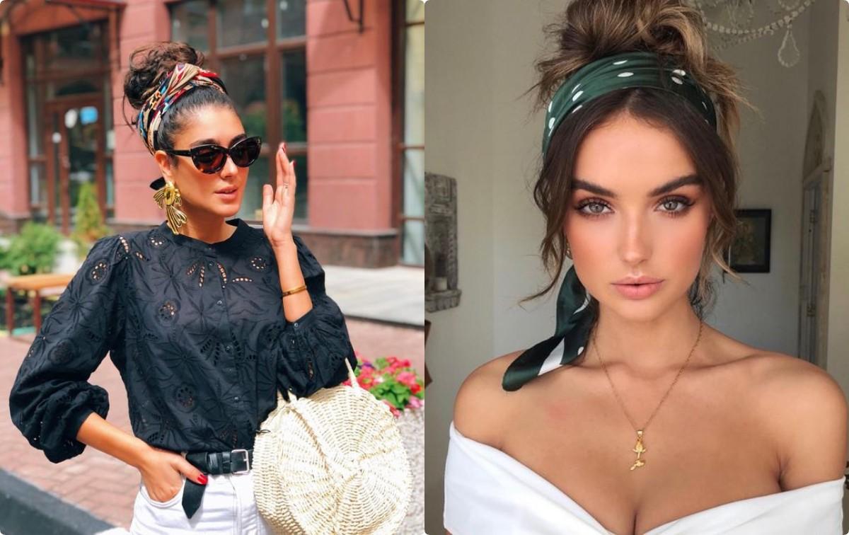 715bae267802 Модные платки на голову 2019: как стильно завязать - идеи с фото ...