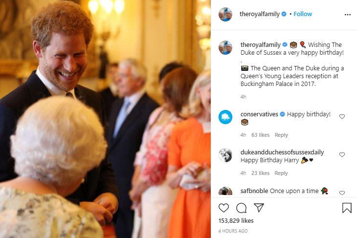 Королевская семья поздравила принца Гарри с 36-летием, показав его редкие фото